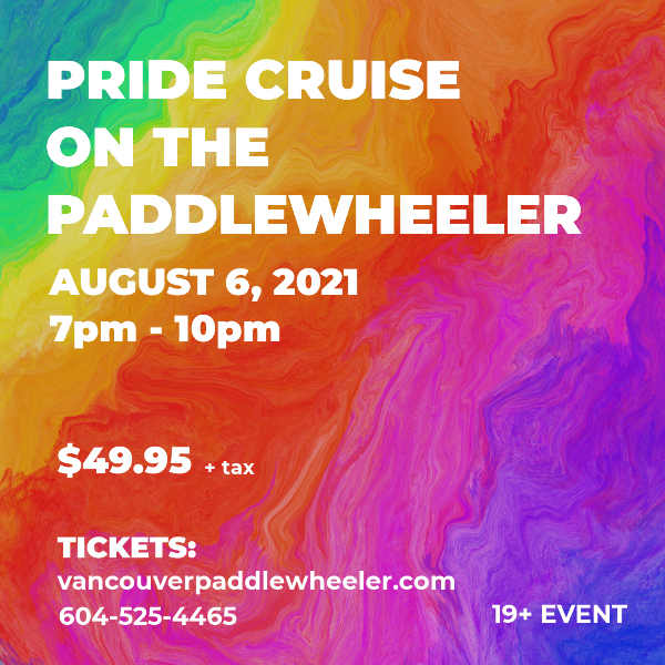 New Westminster Pride Cruise (19+) - August 15, 2020