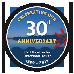 Paddlewheeler Riverboat Tours ~ Celebrating 30 Years! ~ 1989-2019