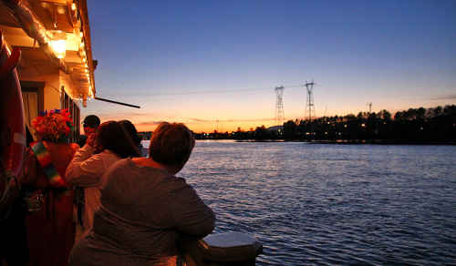 Paddlewheel Cruise New Westminster River Evening